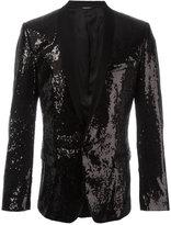 Dolce & Gabbana sequinned blazer - men - Silk/Polyester/Virgin Wool/Spandex/Elastane - 48