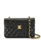Chanel Pre Owned 1990s quilted chain mini shoulder bag