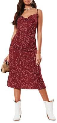 Missguided Polka Dot-Print A-Line Dress