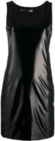 Love Moschino sleeveless scoop neck patent dress
