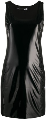 Love Moschino Sleeveless Scoop Neck Patent Dress