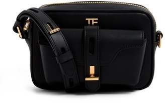 Tom Ford Leather T Twist Camera Bag