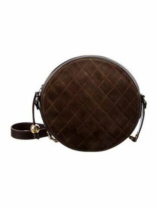 Chanel Vintage Round Crossbody Bag gold
