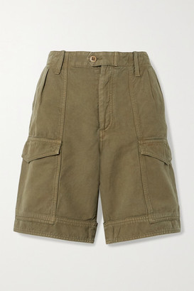 Citizens of Humanity Lily Cotton And Linen-blend Twill Shorts - Army green