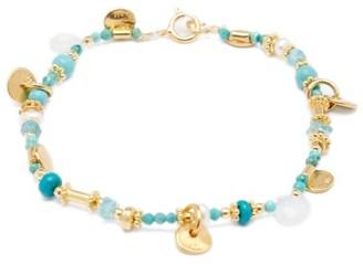 Katerina Makriyianni - Pearl & Gemstone Gold-vermeil Bracelet - Blue Multi