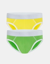 Basic Briefs Rio 2 Pack Green and Gold