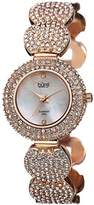Burgi Women's BUR109RG Crystal-Accented Rose Gold-Tone Bracelet Watch