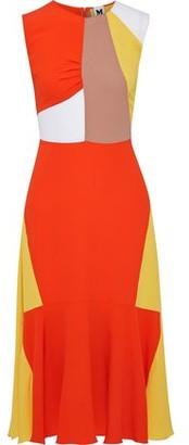 M Missoni Fluted Color-block Crepe Midi Dress
