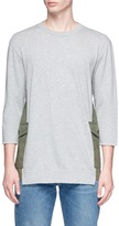 John Undercover Johnundercover Cargo pocket panel mid sleeve T-shirt