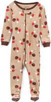 Tan Baseball Footie Pajamas - Boys