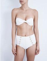 Lisa Marie Fernandez Poppy high-waisted denim bikini