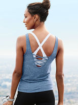 Victoria Sport Lace-up Tank Top