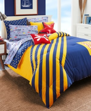 Nautica Flag Stripe 2-Piece Twin Comforter Set Bedding