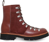Grenson Brady Panelled Leather Hiker Boots