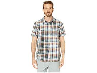 Lucky Brand Men's Short Sleeve Button UP Plaid Two Pocket Shirt