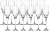 Mikasa Capella Crystal Champagne Flute Glasses, Set of 12