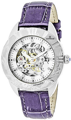 Godiva Empress Automatic Lavender Leather Watch 38mm