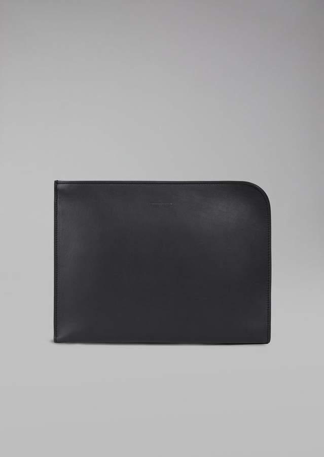 Giorgio Armani Smooth Leather Document Briefcase