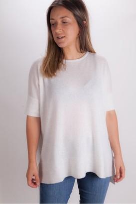 Kinross Cashmere Cap Sleeve Knit In Whisper - Medium