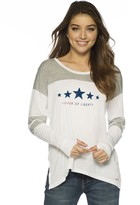 Peace Love World Lover Of Liberty Long Sleeve Tomboy Top