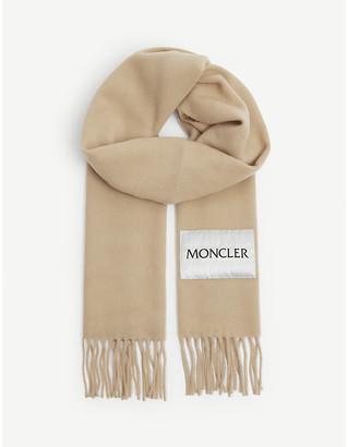 Moncler Branded tassel-trim scarf