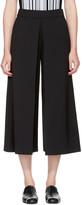 Alexander Wang Black High-waisted Fold Front Culottes