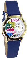 Whimsical Watches Women's C0430002 Classic Gold Bingo Royal Blue Leather And Goldtone Watch