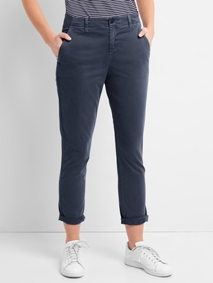 Gap Girlfriend Twill Stripe Chino Pants