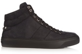 Jimmy Choo Belgravi Debossed-leather High-top Trainers
