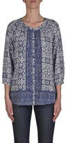 Jump 3/4 Slve Button Thru Placement Print Shirt