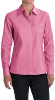 Foxcroft Pinpoint Oxford Non-Iron Shirt - Long Sleeve (For Women)