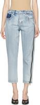 3.1 Phillip Lim Indigo Zipper Jeans