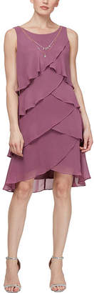 SL Fashions S. L. Fashions Sleeveless Shift Dress with Necklace