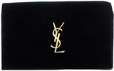 Saint Laurent Velvet Monogram Chain Wallet