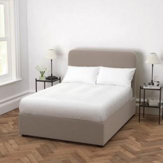 The White Company Melbury Velvet Bed, Stone Velvet, Super King