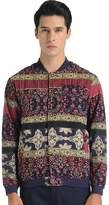 SSLR Men's Autumn Floral Stand Collar Jacket