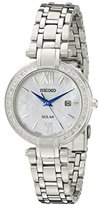 Seiko Women's SUT181 Analog Display Japanese Quartz Silver Watch