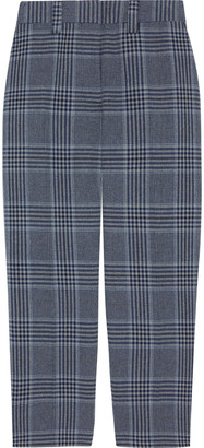 Acne Studios Cropped Prince Of Wales Checked Cotton-blend Tapered Pants