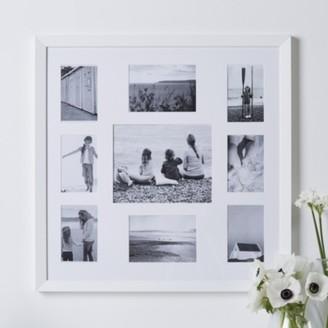 The White Company 9 Aperture Fine Wood Photo Frame, White, One Size