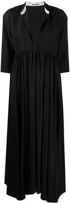 Jil Sander Niaz band collar shift dress