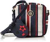 Tommy Hilfiger Th Mascot Camera Bag Corpstripe, Women's Cross-Body Bag, Mehrfarbig (Corp Stripe), 15.5x6x15 cm (B x H T)