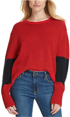 DKNY Oversized Eyelash-Trim Sweater