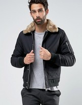 Schott Air Bomber Jacket Faux Fur Collar Exclusive