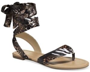 Thalia Sodi Joleyn Scarf Tie Flat Sandals, Created for Macy's Women's Shoes