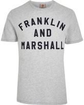 River Island Grey Franklin And Marshall Print T-shirt