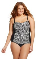 Ava & Viv Women's Plus Size Twist Front Tankini Top