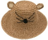 IvyFlair Baby Child 3D Cartoon Cat Straw Hat Foldable Sun Hat Cap