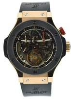Hublot Bigger Bang Tourbillon 308.PM.130.RX 18K Rose Gold & Rubber 44mm Mens Watch