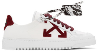 Off-White Burgundy 2.0 Low Top Sneakers