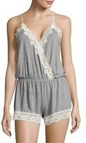 Flora Nikrooz Lace-Trimmed Nighttime Romper